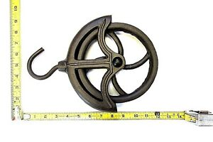 New Old Style Farm Well Barn Cast Iron Rope Wheel Pulley