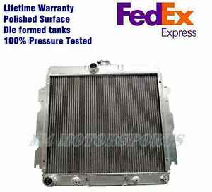 Polished Radiator Fit Dodge Dart 1965 69 Dodge Charger 3 Rows Core