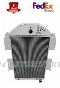 Fit 1934 36 Chevy Pickup Truck Street Rod Chevy Engine Aluminum Radiator 3 Rows