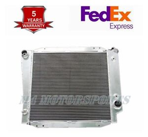 Fit 1968 76 77 Ford Bronco 5 0l V8 3 Rows Core Aluminum Radiator
