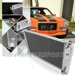 3 Row Aluminum Radiator For 70 81 Chevy Camaro 75 79 Nova 68 73 Chevelle 28 wide