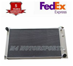 Fit 1971 1986 Chevy Gmc Trucks All Aluminum Radiator W 26 Wide Core 3 Rows Core