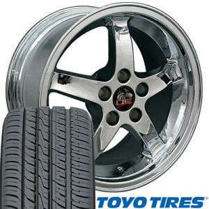 17 Wheel Tire Set Fit Mustang Cobra R Style Chrome Rim Toyo Proxes