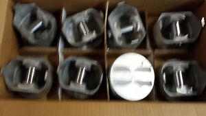 327 Chevy Forged Pistons 2044p L2165f Standard Bore Trw Non Coated Skirt