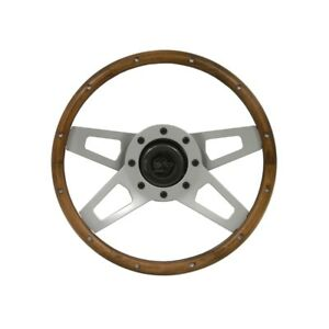 Grant Steering Wheel Challenger Walnut With Satin Spokes