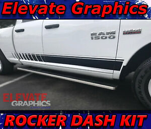 09 18 Dodge Ram Side Rocker Dash Stripe Ram 1500 Vinyl Decals Graphics Stripes