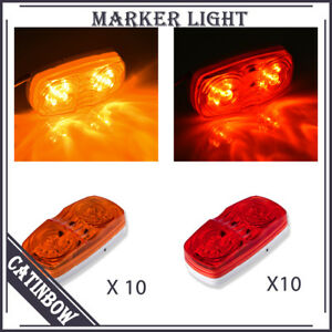 20pcs Amber red Side Marker Clearance Light Super Bright Led For Tailer Boat Rv