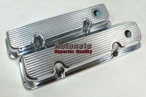 Ford Racing 351c Cleveland Polish Fin Aluminum Valve Covers Mustang 400m Mustang