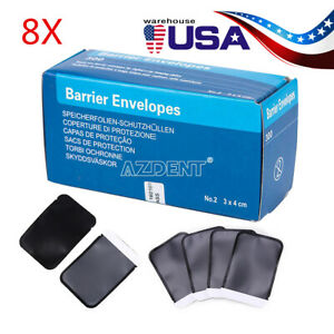 Ups 2400pcs Dental X ray Scanx Barrier Envelopes Size 2 Package Size 33 44mm