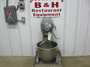 Hobart 20 Qt Heavy Duty Bakery Dough Mixer W Stainless Bowl Paddle A 200