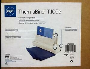 Gbc Thermabind T100e Fully Automatic Electric Binding Machine New