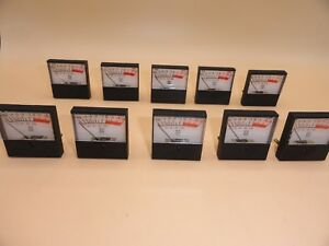 Vu Panel Meter lot Of 10 Style A