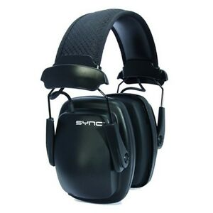 Howard Leight 1030110 Black Sync Stereo Electronic Hearing Protection Earmuffs