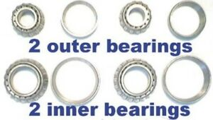 4 Front Wheel Bearings Ford Cars 1949 1950 1951 1952 1953 54 Replace Old