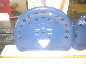 2 New Blue Antique Style Horse Farm Machine Tractor Metal Bar Stool Seat