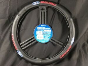 Pilot Automotive Official Ford License Leather Steering Wheel Cover Sw 121 Ford