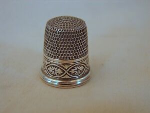 Old Sterling Silver No 9 Sewing Thimble Simons Bros Excellent C Philadelphia