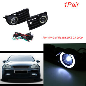 Pair Fog Lights Kit Halo Angel Eyes Ring Lamp For Vw Golf Variant 4motion 03 09