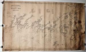 Original 1905 Geo Eldridge Nautical Chart F Kennebec River To Deer Isle Maine
