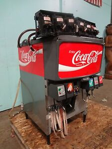Commercial coca Cola 6 Flavors Soda Dispenser W ice Bin Dispenser 6 Pumps