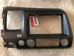 Oem Honda Civic 2006 2010 Double Din Dash Piece With Radio Brackets