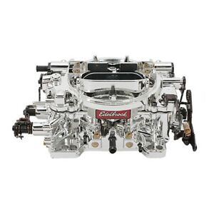 Edelbrock 18054 Endurashine Avs 650 Cfm 4 Barrel Carburetor Man Choke