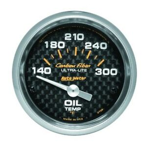 Auto Meter 4748 Carbon Fiber Air Core Oil Temperature Gauge 2 1 16 In