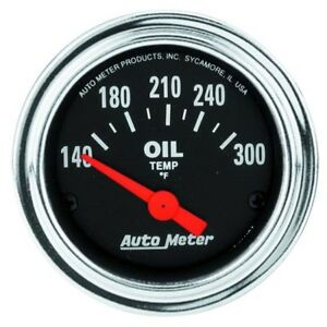 Auto Meter 2543 Traditional Chrome Air Core Oil Temperature Gauge