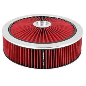 Spectre 47632 Extraflow Air Filter Assembly 4in Tall Red Round