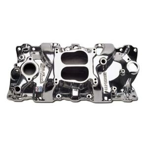 Edelbrock 21011 Performer 1955 86 Small Block Chevy Intake Polished