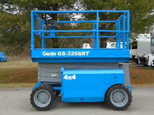 2008 Genie Gs 3268rt 4x4 Rough Terrain Scissor Lift