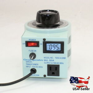 5 Amp Variable Output Autotransformer With Digital Display