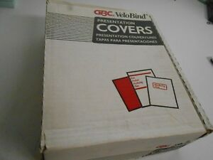 Box Of 200 Gbc Velobind Regency 8 1 2 X 11 Navy Presentation Covers Unpunched