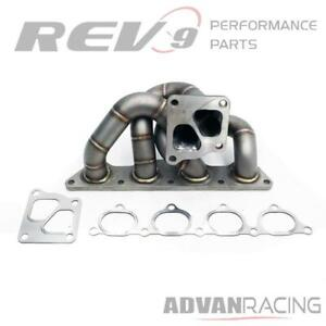 Fits Evo 7 8 9 03 06 4g63 Equal Length Turbo Manifold T304 Stainless 11 Guage