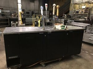 True 4 Tap Kegerator Keg Bar Veer Cooler Direct Draw Self Contained