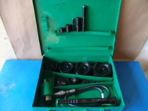 Greenlee 7310 Hydraulic Knockout Punch And Die Set 1 2 To 4 8 31 4