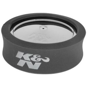 K N 25 5500 Airforce Air Filter Foam Wrap 4in Tall Charcoal
