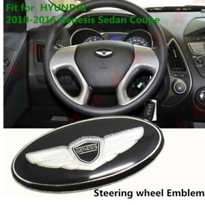 Fit For Hyundai Genesis Car Steering Wheel Horn Cap Emblem Sticker 9 2010 16