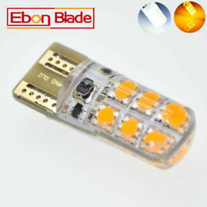 2x Amber T20 7443 7440 12 Smd Led Brake Light Turn Signal Bulb Parking Lamp