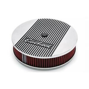 Edelbrock 4266 Elite Series Aluminum Air Cleaner Round 14 Inch