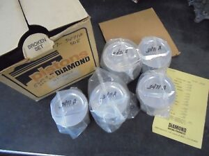 Sbc 350 5 7 Rod 4 020 5 Only Diamond Dish Pistons 01 2467 3471a 4 020