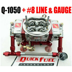 Quick Fuel 1050 Cfm Mech Drag Race Gas Q 1050 With 8 Fuel Line Kit Look