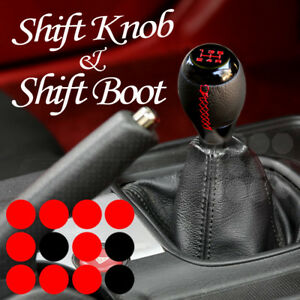 99 07 Chevy Corvette Black Chrome Mt Gear 5 Spd Shift Knob Leather Stitch Boot