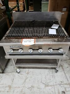 Radiance By Turbo Air 36 Countertop Charbroiler Ng W Stand