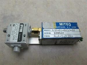 Miteq Amf 4s 4450 14 P h C1 c15343 7 Microwave Rf Power Amplifier 4 4 5 Ghz