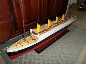 Titanic Wooden Model Cruise Ship 40 Fully Assembly Ready For Display