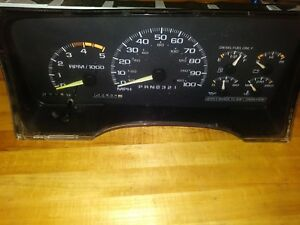 1995 Chevy Silverado Diesel Tach Instrument Cluster Fits Z71 2500 3500 Pick Up