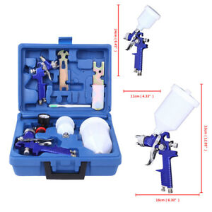 New Basic Hvlp Spray Gun Kit 2 spray Guns Kit Gravity Feed Spray Guns W A Box
