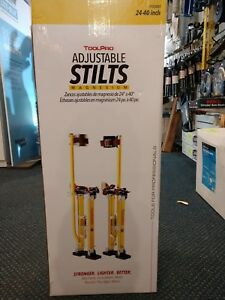 Toolpro 24 In To 40 In Magnesium Adjustable Drywall Stilts
