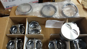 350 Chevy 383 Pistons Rings H860cp 030 Over Hypereutectic